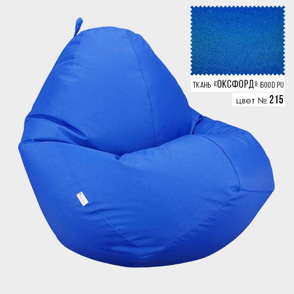 Безкаркасне крісло мішок груша Овал Coolki XXXL 100x140 Синій (Оксфорд 600D PU) - зображення 1