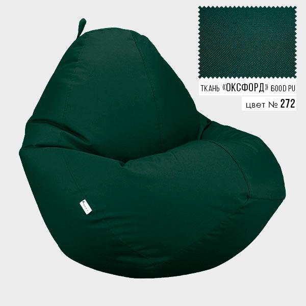 Безкаркасне крісло мішок груша Овал Coolki XXXL 100x140 Темно-Зелений (Оксфорд 600D PU) - зображення 1