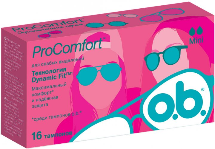 Тампоны o.b. ProComfort Mini 16 шт (3574660192063) - изображение 1