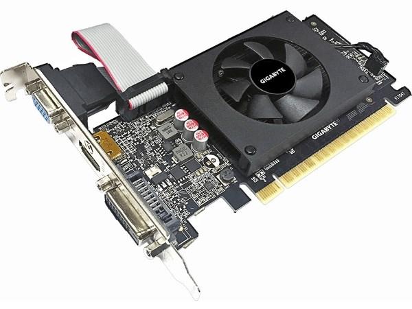Відеокарта GigaByte GeForce GT710 2GB GDDR5 64bit Low Profile - зображення 1