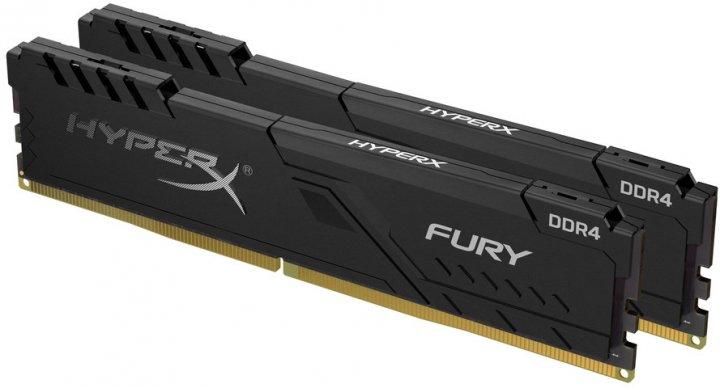 Оперативна пам'ять HyperX DDR4-2400 32768MB PC4-19200 (Kit of 2x16384) Fury Black (HX424C15FB3K2/32) - зображення 1