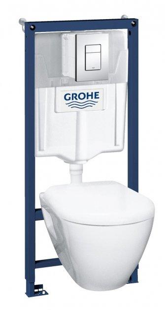 Инсталяция Grohe Solido Perfect 4в1 38772001 с подвесным унитазом 52х35,5 в комплекте с сидением Soft-close - изображение 1