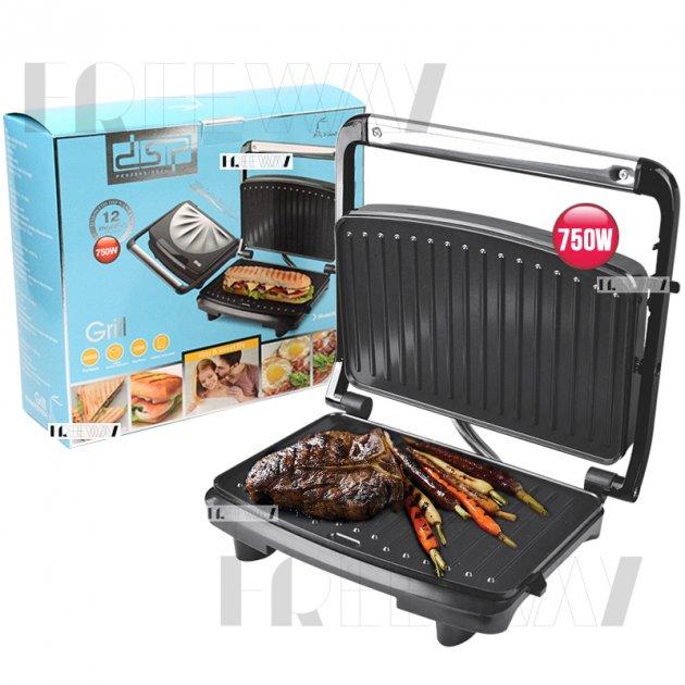 Гриль электрический для дома для стейков прижимной DSP 750W (KB1054) - изображение 1