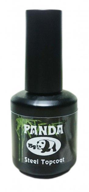Особливо глянсовий топ без липкого шару Panda Steel Top Coat 15 g - зображення 1