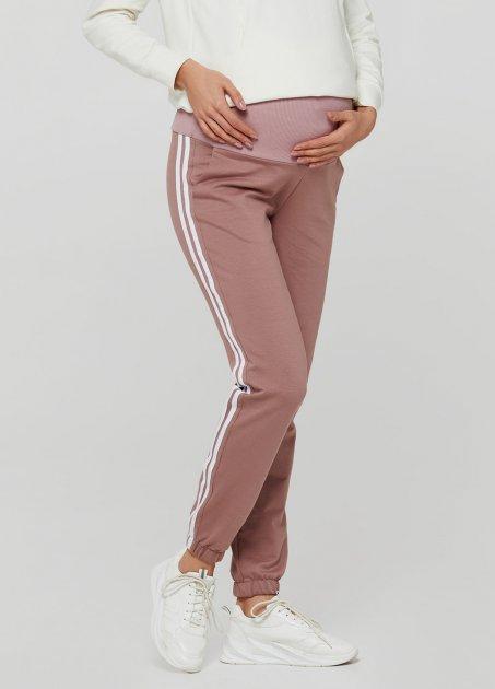 Спортивні штани з лампасами для вагітних Lullababе Lublin Темна пудра XL - зображення 1