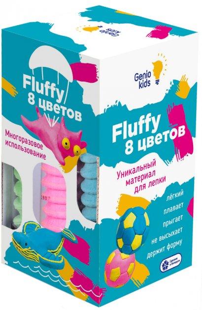 Воздушный пластилин для детской лепки Genio Kids Fluffy 8 цветов (TA1503) (4814723006012) - изображение 1