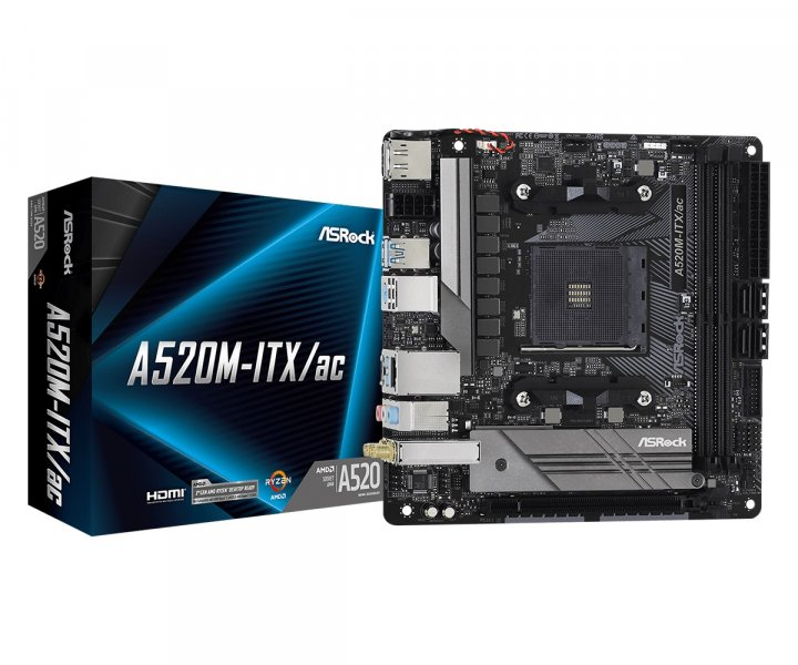 Материнська плата ASRock A520M-ITX/AC Socket AM4 - зображення 1