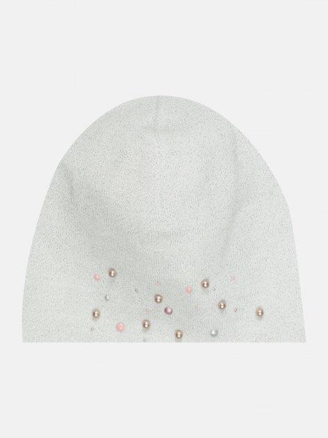Демисезонная шапка Elf-kids Диляра 52 см Молочная (ROZ6400046128) - изображение 1