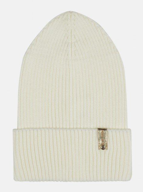 Демисезонная шапка Elf-kids Лейла 54-56 см Молочная (ROZ6400046184) - изображение 1