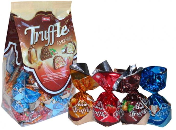 Упаковка шоколадных конфет Elvan Truffle Bag Mix 1 кг (8693029204782) - изображение 1