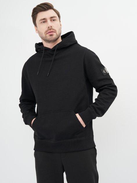Худи Calvin Klein Jeans Monogram Sleeve Badge Hoodie J30J314036-BAE XL Ck Black (8719852242477) - изображение 1