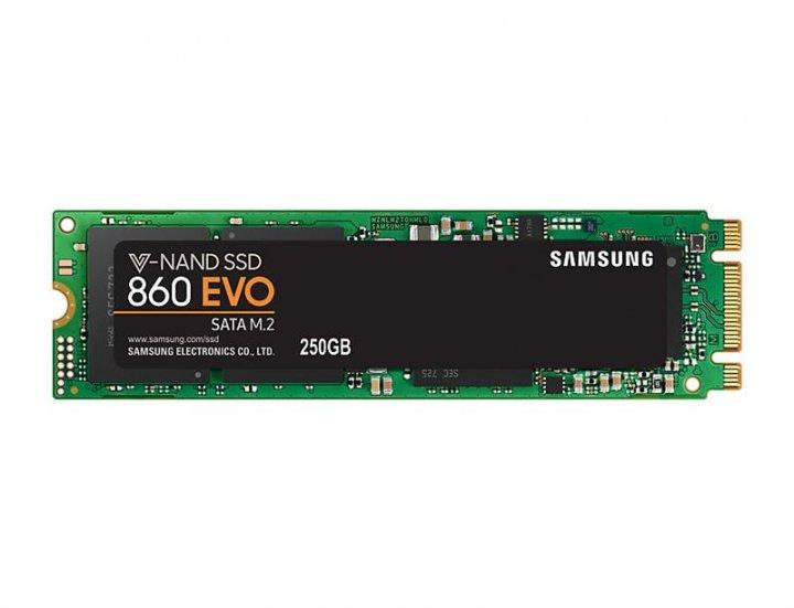 Накопитель SSD 250GB Samsung 860 EVO M.2 2280 SATAIII MLC (MZ-N6E250BW) - зображення 1