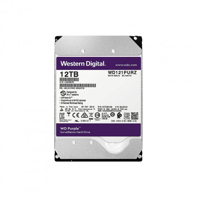 Жорсткий диск Western Digital Purple 12TB WD121PURZ - зображення 1