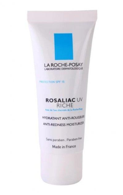 La Roche-Posay Rosaliac UV Riche поживний заспокоюючий крем для чутливої шкіри схильної до почервонінь SPF 15 (40 мл) - изображение 1