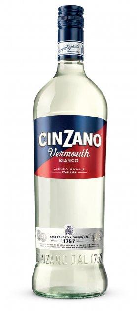 Вермут Cinzano Bianco полусладкий 1 л 15% (8000020000013) - изображение 1