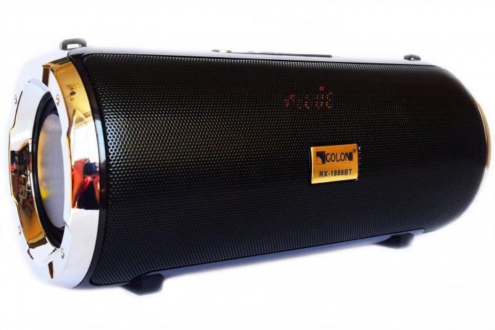 Портативная bluetooth стерео колонка Atlanfa XTREME RW-1888 BT Mega Bass с дисплеем Черная (1888 Black) - изображение 1