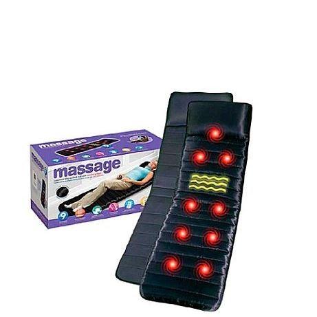 Массажный матрас с подогревом и роликами виброматарс Reversible Massage Mat - изображение 1