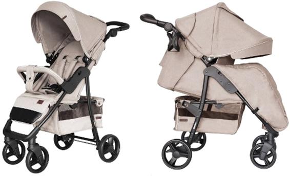 Прогулочная коляска Carrello Quattro CRL-8502/3 + москитная сетка Frost Beige (CRL-8502/3+M frost beige) - изображение 1
