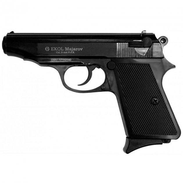 Пістолет стартовий EKOL MAJOROV чорний вороновані - зображення 1