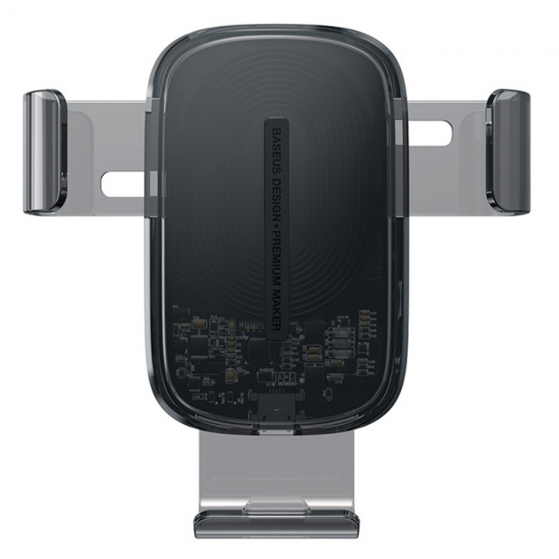 Держатель для телефона в машину Baseus с беспроводной зарядкой Explore Gravity Car Mount 15W Черный - изображение 1