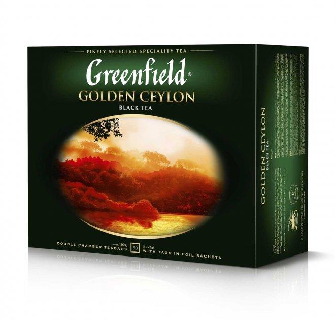 Чай пакетированный Greenfield Golden Ceylon 50 x 2 г (4823096806693)