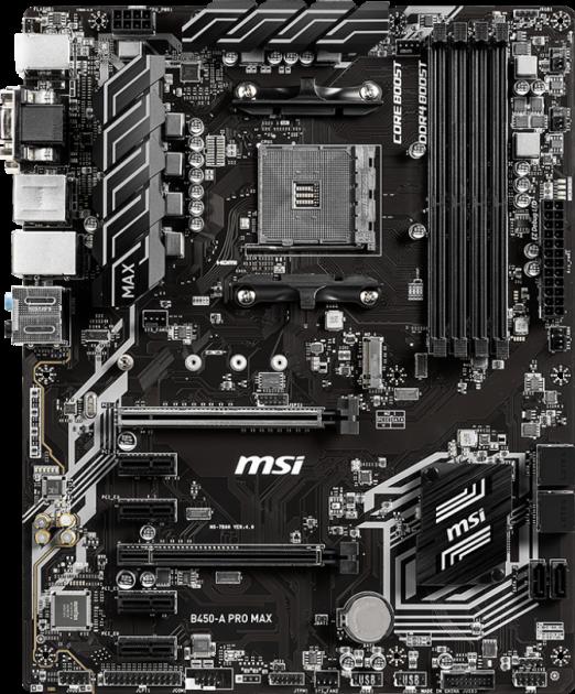 Материнська плата MSI B450-A Pro Max (sAM4, AMD B450, PCI-Ex16) - зображення 1