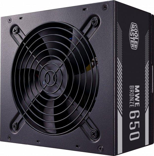 Блок питания Cooler Master MWE 650 Bronze V2,650W,12cm fan,a/PFC,24+8,4xPeripheral,8xSATA,4xPCIe - изображение 1