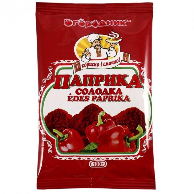 Паприка червона солодка Огородник мелена 100 г (4820079240130) - изображение 1