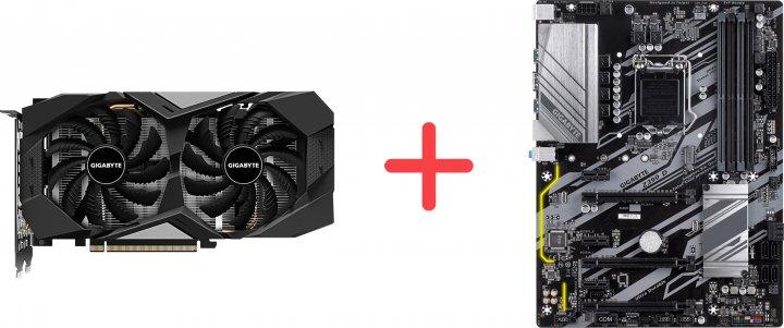 Gigabyte PCI-Ex GeForce GTX 1660 Super OC 6GB GDDR6 (192bit) (1785/14000) (1 x HDMI, 3 x Display Port) (GV-N166SOC-6GD + Z390 D) + Материнская плата Gigabyte Z390 D (s1151, Intel Z390, PCI-Ex16) в подарок! - зображення 1