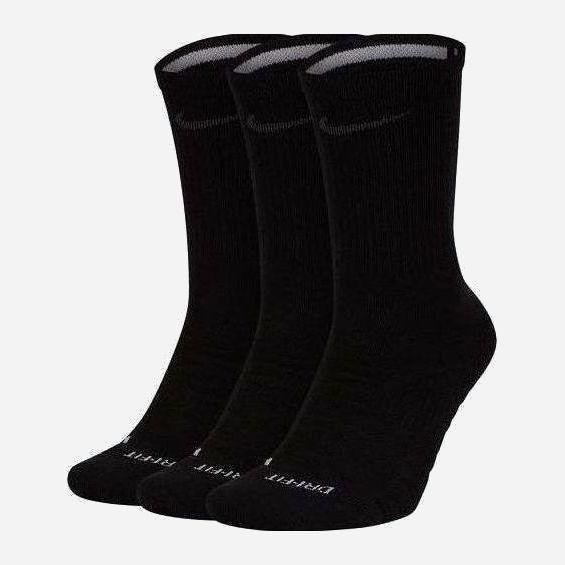 Набор носков Nike U Nk Everyday Max Cush Crew 3Pr - Pro SK0121-010 L (42-46) 3 пары Черный (193145890978) - изображение 1