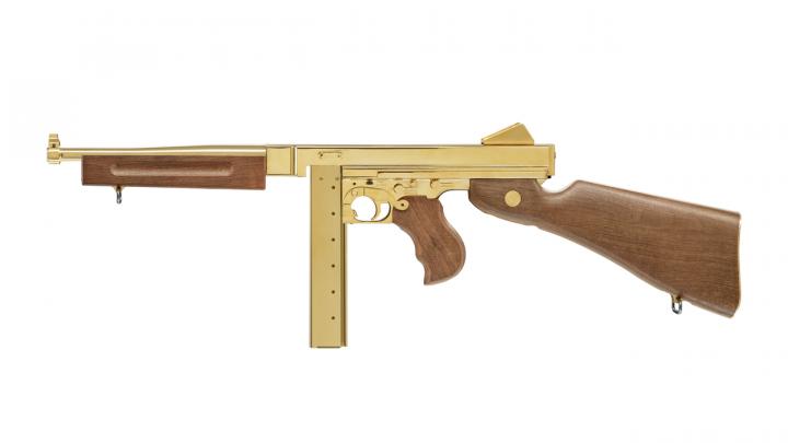 Пневматический пистолет-пулемет Umarex LEGENDS M1A1 Legendary Gold - изображение 1
