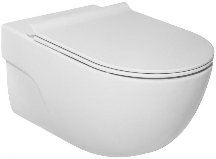 Унитаз подвесной ROCA Meridian Rimless A34H240000 c сиденьем Soft Close - изображение 1