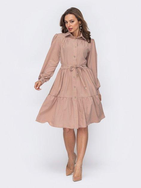 Платье Dressa 53541 42-44 Бежевое (2000405731149_D) - изображение 1