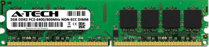 Оперативна пам'ять A-Tech 2GB DDR2-800 (PC2-6400) DIMM (AT2G1D2D800NA0N18V) - зображення 1