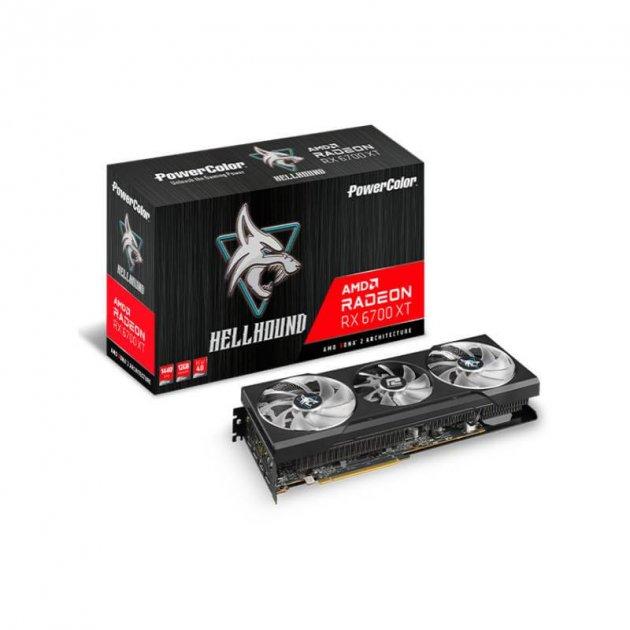 Відеокарта AMD Radeon RX 6700 XT 12GB GDDR6 Hellhound PowerColor (AXRX 6700XT 12GBD6-3DHL) - зображення 1