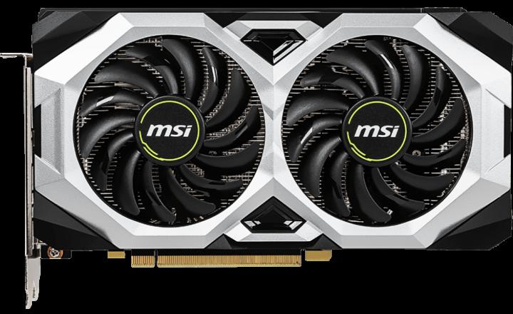 MSI PCI-Ex GeForce RTX 2060 Ventus GP OC 6GB GDDR6 (192bit) (1710/14000) (HDMI, 3 x DisplayPort) (RTX 2060 VENTUS GP OC) - зображення 1