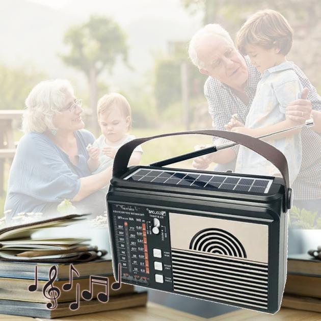 Цифровое мини радио GOLON RX-BT660T + BLUETOOTH Радиоприемник всеволновой портативный с телескопической антенной с USB mp3, WMA беспроводной FM/AM сетевой и аккумуляторный - изображение 1
