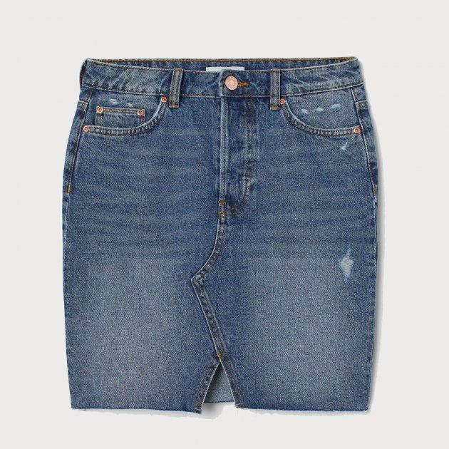 Спідниця джинсова H&M 2603-7513420 32 Синя (hm03530956229) - зображення 1