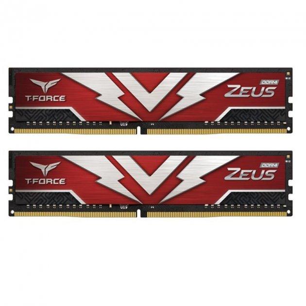 Модуль пам`яті DDR4 2х8GB 2666MHz Team T-Force Zeus Red (TTZD416G2666HC19DC01) - зображення 1