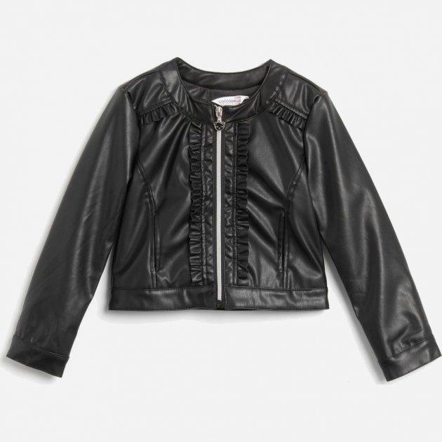 Куртка из искусственной кожи Coccodrillo Cutest Ever W20152201CUT-021 104 см Темно-серая (5904705063290)