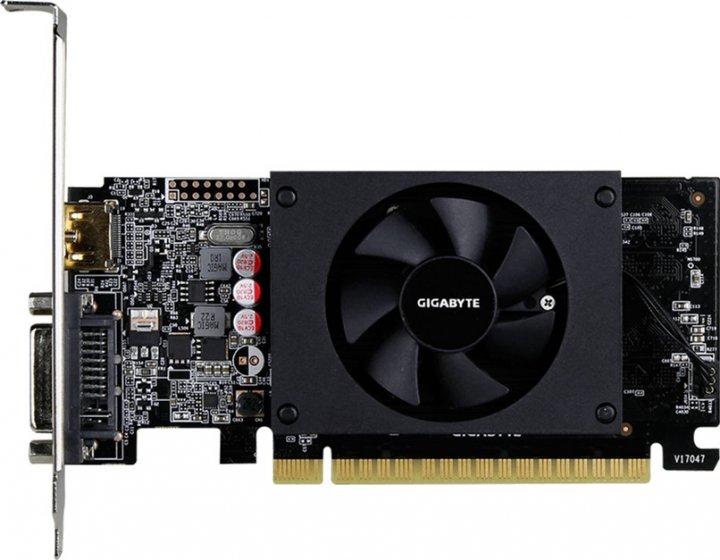 Gigabyte PCI-Ex GeForce GT 710 1024MB GDDR5 (64bit) (954/5010) (DVI, HDMI) (GV-N710D5-1GL) - зображення 1