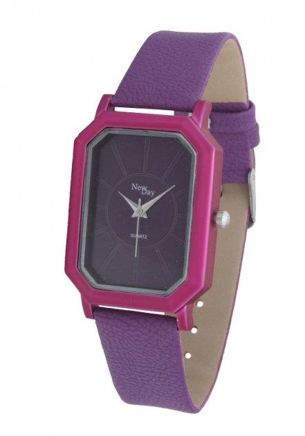 Женские часы NewDay Ch185j1 классические прямоугольные сиреневые - изображение 1