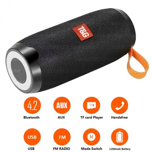 Bluetooth-колонка TG106, Потужністю 10W, Акумулятор 1200mAh Black - зображення 1