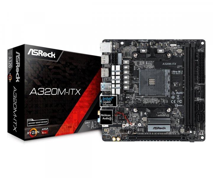 Материнская плата ASRock A320M-ITX Socket AM4 - изображение 1