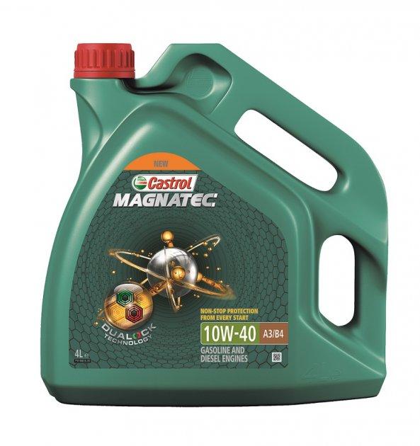 Моторное масло Castrol Magnatec 10W-40 A3/B4 4 л - изображение 1