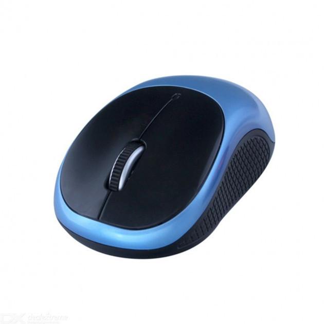 Мышка беспроводная оптическая G-185 6973, черно-синяя - изображение 1