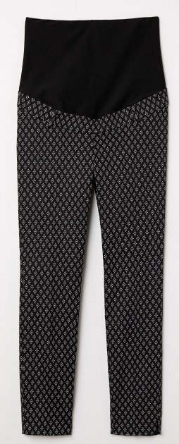 Штани H&M 60VYQ18 48 Чорні з білим (5000000415953) - зображення 1