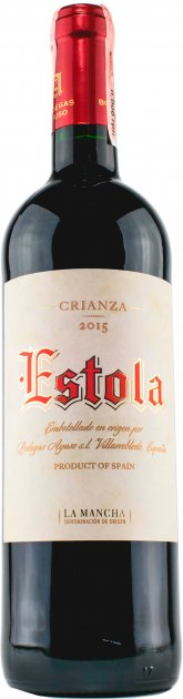 Вино Estola Крианза 2016 Estola D.O. La Mancha красное сухое 13% 0.75 л (8410479510221) - изображение 1