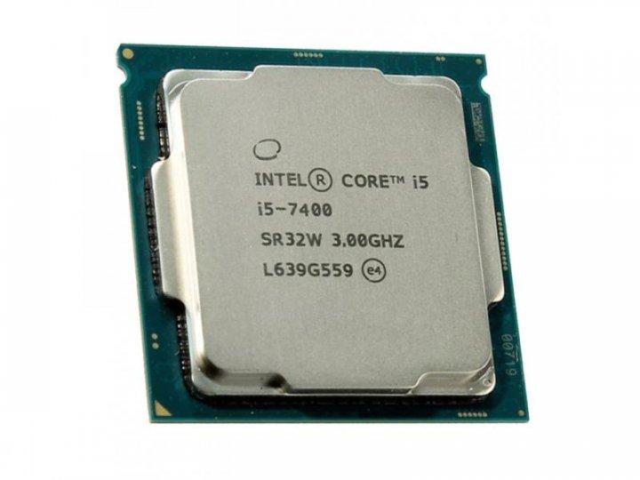 Процессор Intel Core i5-7400 (S1151/4x3.0GHz/8GT/s/6MB/65 Вт/BX80677I57400) Б/У - изображение 1
