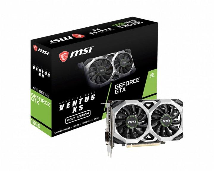 Видеокарта GF GTX 1650 4GB GDDR5 Ventus XS OCV1 MSI (GeForce GTX 1650 VENTUS XS 4G OCV1) - зображення 1